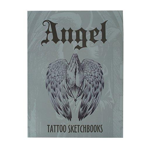magazine-livre-de-reference-de-tatouage-carnet-de-croquis-flash-art-ange