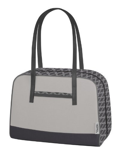 Thermos Raya Premium 9-Can Duffle Lunch Bag, Gray Shimmer - 1