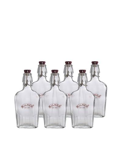Kilner Set of 6 Clip Top 250ml/9 fl oz. Sloe Gin Bottles