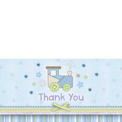 Carter Boy Embellished Thank You Notes 8ct