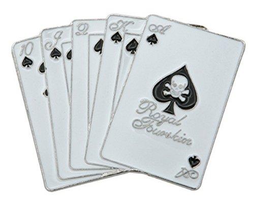 Poker metal belt buckle Royal Flush Cards