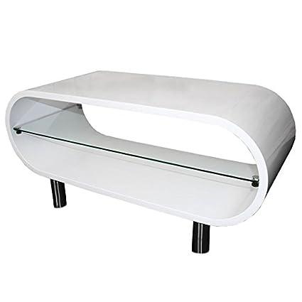 Couchtisch Wohnzimmertisch Loungetisch 42-44x90x38cm M10313 ~ weiß