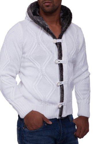 белая кофта мужская крупная вязка