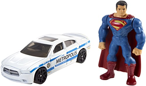 Hot Wheels Batman v Superman: Dawn of Justice Superman Mini Figure & Dodge Charger