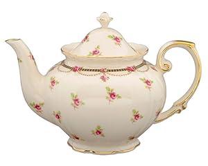 Gracie China Pink Petite Fleur Porcelain 3-Cup Tea Pot