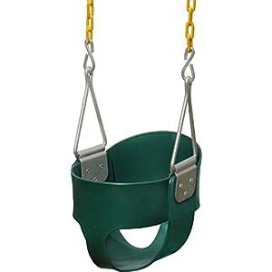 Jungle Gym Kingdom High Back Full Bucket Toddler Swing Seat Heavy Duty Chain - Swing Set Accessories