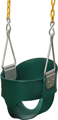 Learn More About Jungle Gym Kingdom High Back Full Bucket Toddler Swing Seat Heavy Duty Chain - Swin...