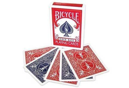 Magic Makers Bicycle Red/Blue Double Back Deck