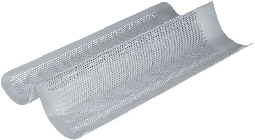 Chicago Metallic Commercial II Non-Stick Perforated French Bread Pan (Perforated Baguette Pan compare prices)