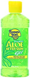 Banana Boat Aloe Vera Sun Burn Relief Gel 8-Ounce Bottles