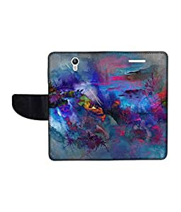 KolorEdge Printed Flip Cover For Lenovo S1 Multicolor - (1478-50KeMLogo11449LenovoS1)