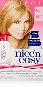 Amazon Com Clairol Nice N Easy Foam Hair Color 9 Light
