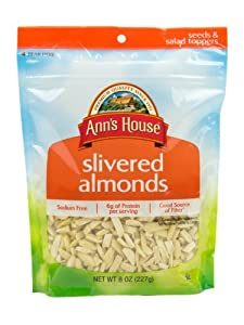 Ann's House of Nuts Slivered Almonds, 8 Ounce (Pack of 6)