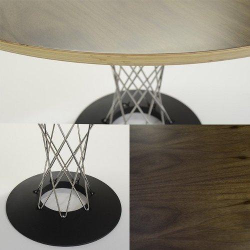 【プレミアム】サイクロンテーブル (Cyclon Table)ステンレス脚 ウォールナット突板 イサム・ノグチ