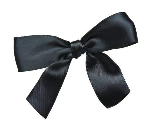 CK Products Black Bow Twist Tie, Package of 100