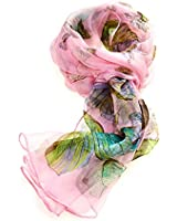 Women's Multi Function 100% Pure Silk Butterfly Scarf/Headwear (tested by leading authority)
