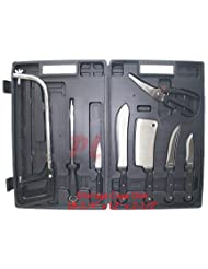 8 PCS Meat Processing Knife Cutlery Butcher Saw Scissor by Generic