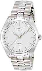 Tissot PR100 Silver Dial Stainless Steel Quartz Men's Watch T1014101103100