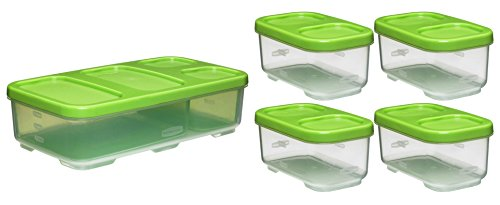 Rubbermaid Lunch Blox Entrée Container With 4 Side Containers