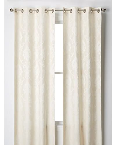 Cay Trading Set of 2 Dainty Home Vienna Window Panels, Ivory