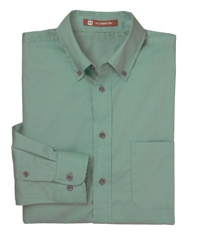 Harriton Men's Long-sleeve Twill Shirt  Stain-release