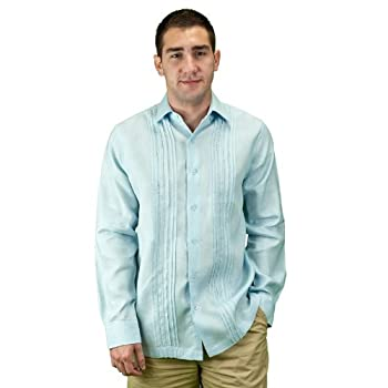 Mens clothes for beach wedding shirt, lt. Blue.