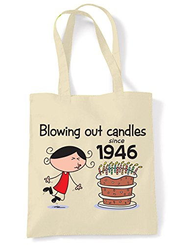 Blowing Out Candles Since 1946 70th Birthday Tote / Shoulder Bag