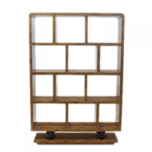 Designer Bucherregal aus lackiertem Holz Weiß/Schwarz Hochglanz Höhe: 207cm, Breite: 120cm, Tiefe: 30 cm, modernes Bucherregal