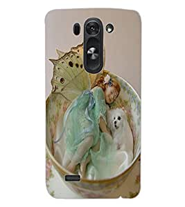 ColourCraft Cute Baby Angel Design Back Case Cover for LG D722 K