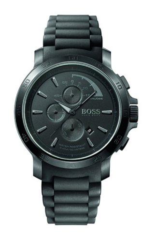 Hugo Boss - 1512393 - Gents Watch - Analogue Quartz - Black Dial - Chronograph - Black Rubber Strap