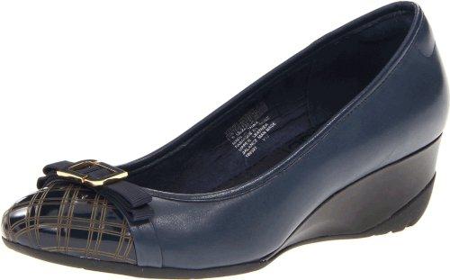 大码福利:ROCKPORT 乐步 truLinda Laser Wedge Pump 女款坡跟鞋 $39.93(约¥330)38.5码起