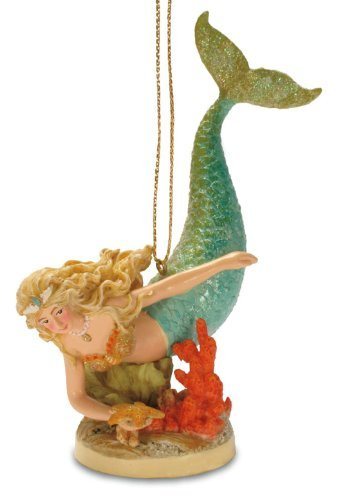 Tropical Beach Mermaid Island Christmas Tree Ornament