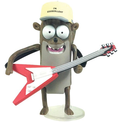 "Regular Show Rigby 3"" Action Figure with Guitar and Hat"