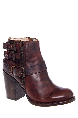 Bolo Three Buckle High Heel Bootie