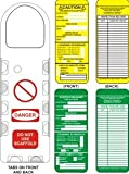 Scaffold Tag Kit- 10 Holders, 10 Green Inserts, 10 Yellow Inserts, 2 Markers
