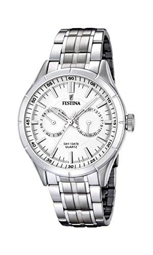 Festina F16780/1 - Reloj de pulsera hombre, acero inoxidable, color plateado