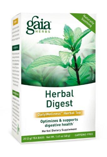 Gaia Herbs Herbal Digest Tea, 20 Bags (Pack Of 2)