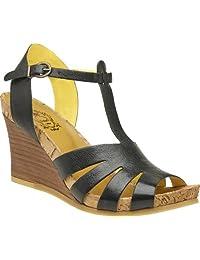 Kickers Hav Sun Women's Leather Open Toe Wedge Sandal