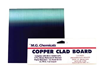 MG Chemicals 600 Series Positive Presensitized Copper Clad Board with 1 oz Copper