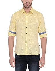 IDENTITI Men's Yellow Casual Shirt