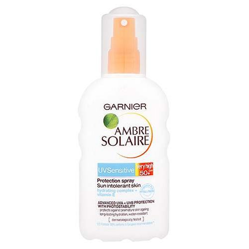 Garnier Ambre Solaire UV Sensitive Protection Spray Very High SPF 50 For Sun Intolerant Skin 200 ml