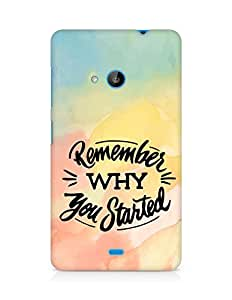 AMEZ remember why you started Back Cover For Microsoft Lumia 535