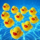 Harbour City Lots 10 Baby Bath Toy Rubber Race Ducks Yellow 5cm BNIP