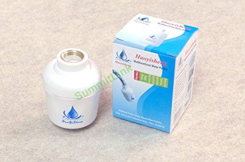 bathroom in line shower head filter water softener purifier chlorine remover. Black Bedroom Furniture Sets. Home Design Ideas