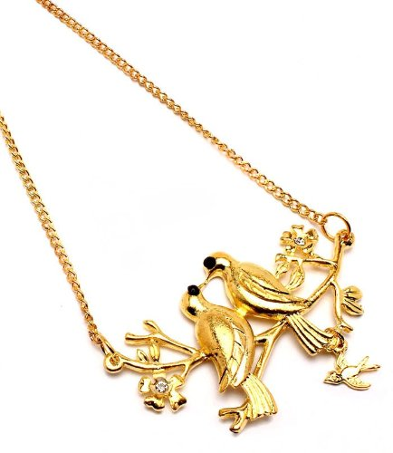 Golden Lovebird Necklace