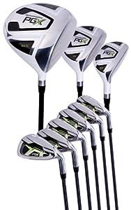 Pinemeadow Golf PGX Set (Driver, 3 Wood, Hybrid, 5-PW Irons, Left Hand, Regular)