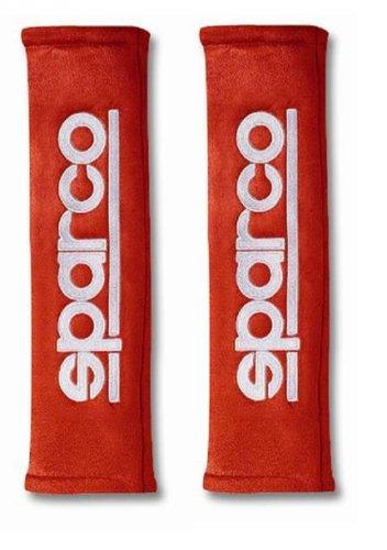 SPC 01090R3RS - Cuscinetti Sparco GT per cinture di sicurezza, colore: Rosso