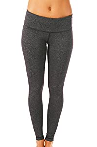 90 Degree by Reflex Power Flex Yoga Pants - Heather Charcoal - Medium