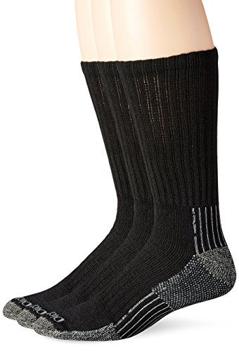 Dickies Men's Big-Tall 3 Pack Heavyweight Cushion with Compression Crew Socks, Black, 13-15 Sock/12-15 Shoe (Big And Tall Work Boots compare prices)