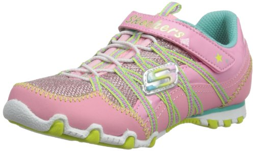 Skechers Girls Biker II - Flygirls Low-Top 82379L Pink/Lime 4 UK Child, 37 EU